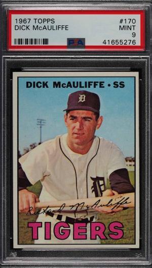 Image of: 1967 Topps Dick McAuliffe #170 PSA 9 MINT (PWCC)