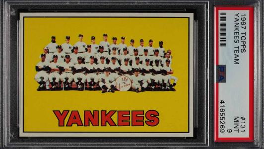 Image of: 1967 Topps Yankees Team #131 PSA 9 MINT (PWCC)