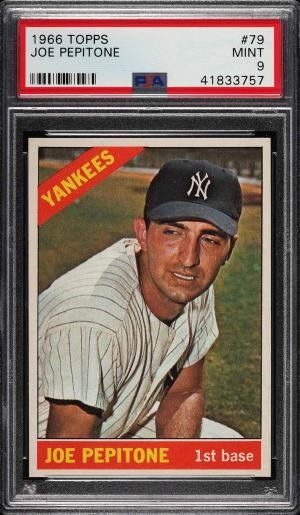 Image of: 1966 Topps Joe Pepitone #79 PSA 9 MINT (PWCC)