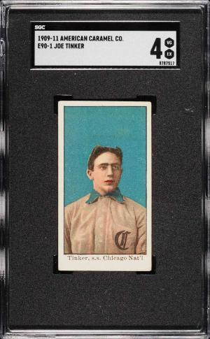 Image of: 1909 E90-1 American Caramel Joe Tinker SGC 4 VGEX (PWCC)