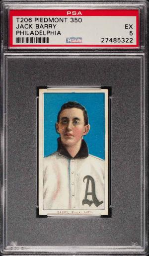 Image of: 1909-11 T206 Jack Barry PHILADELPHIA PSA 5 EX (PWCC)