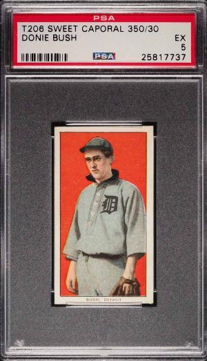 Image of: 1909-11 T206 Donie Bush PSA 5 EX (PWCC)