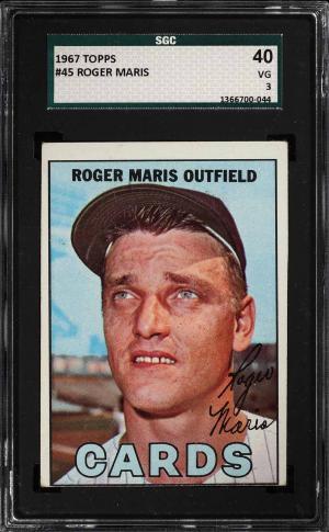 Image of: 1967 Topps Roger Maris #45 SGC 3 VG (PWCC)