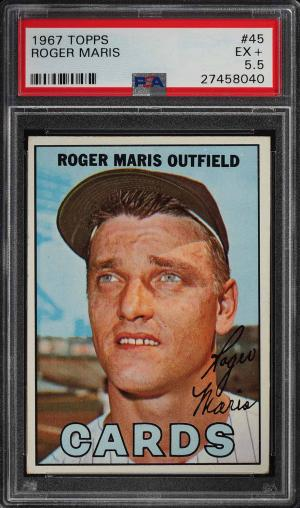 Image of: 1967 Topps Roger Maris #45 PSA 5.5 EX+ (PWCC)