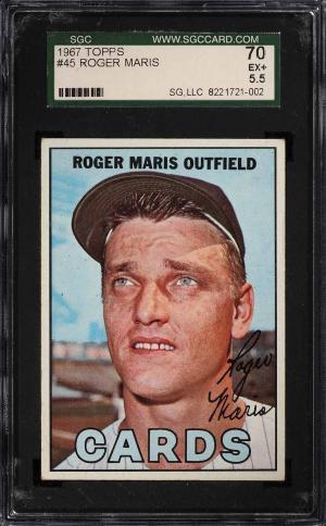Image of: 1967 Topps Roger Maris #45 SGC 5.5 EX+ (PWCC)