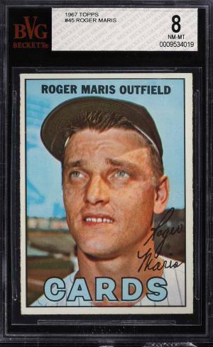 Image of: 1967 Topps Roger Maris #45 BVG 8 NM-MT (PWCC)