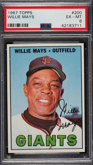 Image of: 1967 Topps Willie Mays #200 PSA 6 EXMT (PWCC)