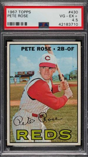 Image of: 1967 Topps Pete Rose #430 PSA 4.5 VGEX+ (PWCC)