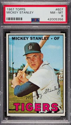 Image of: 1967 Topps Mickey Stanley #607 PSA 8 NM-MT (PWCC)