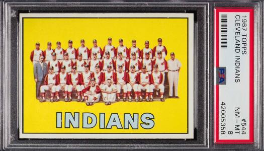 Image of: 1967 Topps Cleveland Indians #544 PSA 8 NM-MT (PWCC)