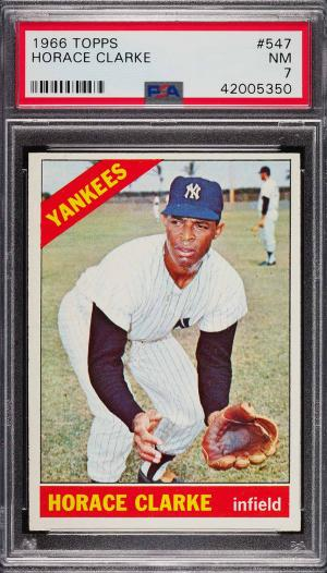 Image of: 1966 Topps Horace Clarke SP ROOKIE RC #547 PSA 7 NRMT (PWCC)
