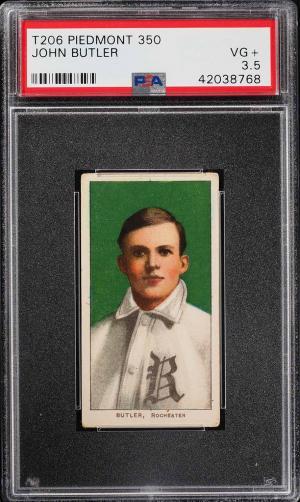Image of: 1909-11 T206 John Butler PSA 3.5 VG+ (PWCC)
