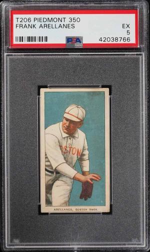 Image of: 1909-11 T206 Frank Arellanes PSA 5 EX (PWCC)