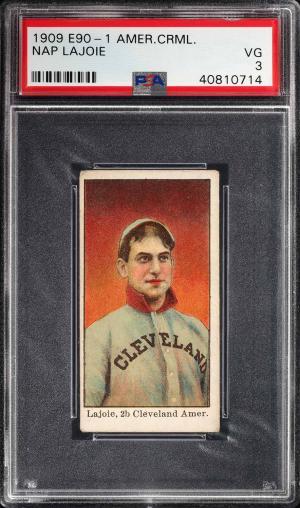 Image of: 1909 E90-1 American Caramel Nap Lajoie PSA 3 VG (PWCC)