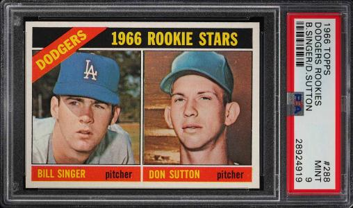 Image of: 1966 Topps Don Sutton ROOKIE RC #288 PSA 9 MINT (PWCC)