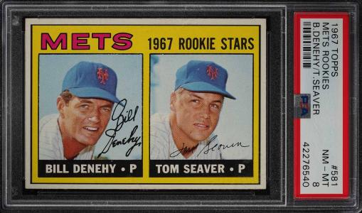Image of: 1967 Topps Tom Seaver ROOKIE RC #581 PSA 8 NM-MT (PWCC)