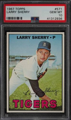 Image of: 1967 Topps Larry Sherry #571 PSA 10 GEM MINT (PWCC)