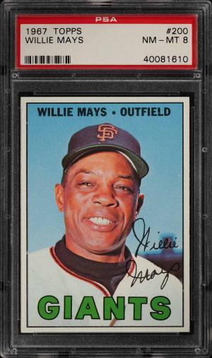 Image of: 1967 Topps Willie Mays #200 PSA 8 NM-MT (PWCC-PQ)