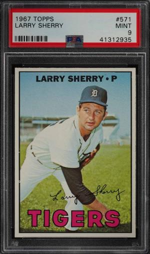 Image of: 1967 Topps Larry Sherry #571 PSA 9 MINT (PWCC)
