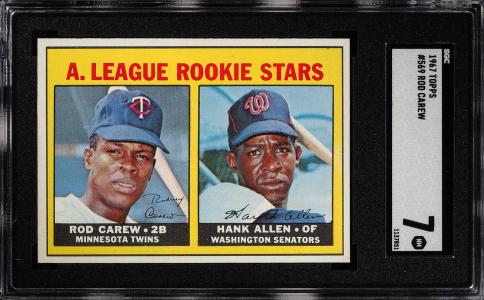 Image of: 1967 Topps Rod Carew ROOKIE RC #569 SGC 7 NRMT (PWCC-PQ)