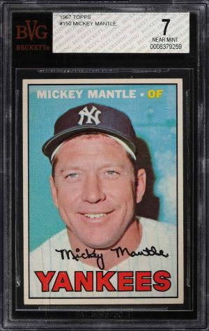 Image of: 1967 Topps Mickey Mantle #150 BVG 7 NRMT (PWCC)