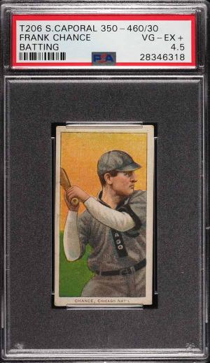 Image of: 1909-11 T206 Frank Chance BATTING PSA 4.5 VGEX+ (PWCC)