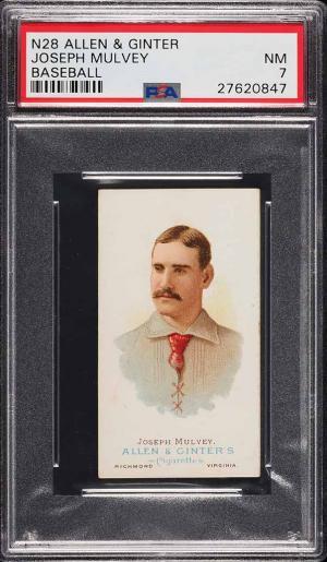 Image of: 1888 N28 Allen & Ginter Joseph Mulvey PSA 7 NRMT (PWCC)