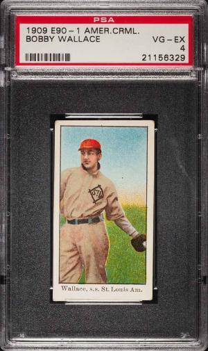 Image of: 1909 E90-1 American Caramel Bobby Wallace PSA 4 VGEX (PWCC)