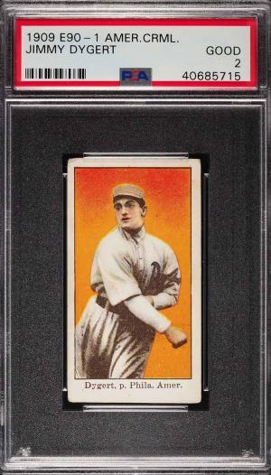 Image of: 1909 E90-1 American Caramel Jimmy Dygert PSA 2 GD (PWCC)