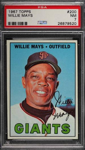 Image of: 1967 Topps Willie Mays #200 PSA 7 NRMT (PWCC)