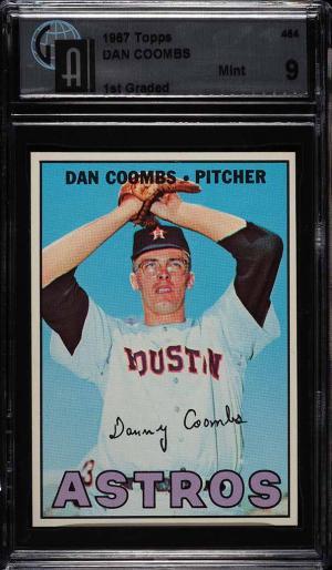 Image of: 1967 Topps Dan Coombs #464 GAI 9 (PWCC)