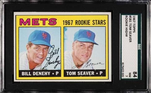 Image of: 1967 Topps Tom Seaver ROOKIE RC #581 SGC 7 NRMT (PWCC)