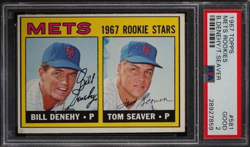 Image of: 1967 Topps Tom Seaver ROOKIE RC #581 PSA 2 GD (PWCC)