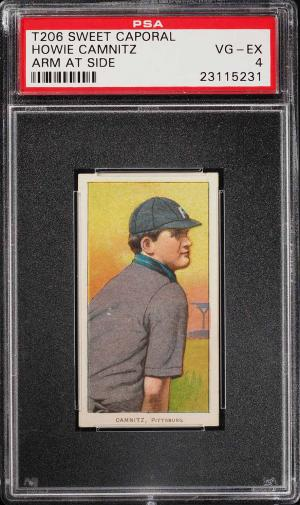 Image of: 1909-11 T206 Howie Camnitz ARM AT SIDE PSA 4 VGEX (PWCC)