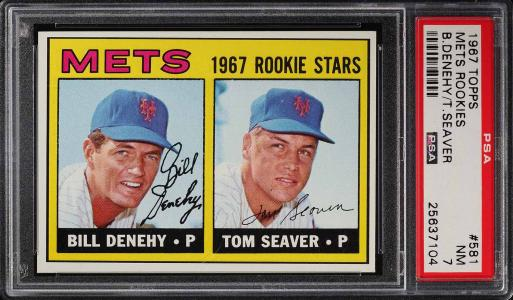 Image of: 1967 Topps Tom Seaver ROOKIE RC #581 PSA 7 NRMT (PWCC)
