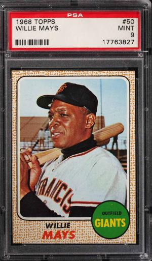 Image of: 1968 Topps Willie Mays #50 PSA 9 MINT (PWCC)