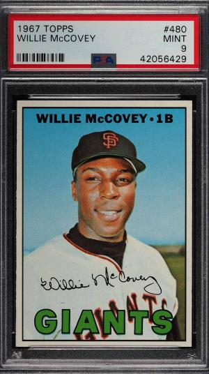 Image of: 1967 Topps Willie McCovey #480 PSA 9 MINT (PWCC)