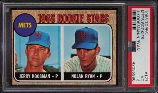 Image of: 1968 Topps Nolan Ryan ROOKIE RC #177 PSA 3 VG (PWCC)
