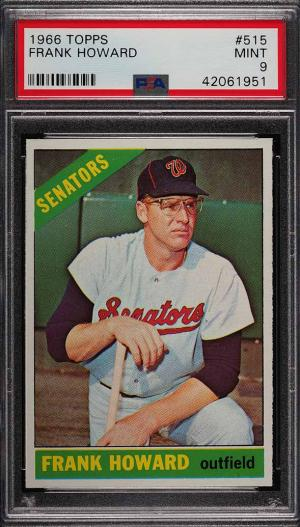 Image of: 1966 Topps Frank Howard #515 PSA 9 MINT (PWCC)
