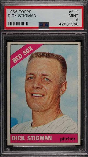 Image of: 1966 Topps Dick Stigman #512 PSA 9 MINT (PWCC)
