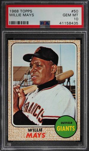 Image of: 1968 Topps Willie Mays #50 PSA 10 GEM MINT (PWCC)