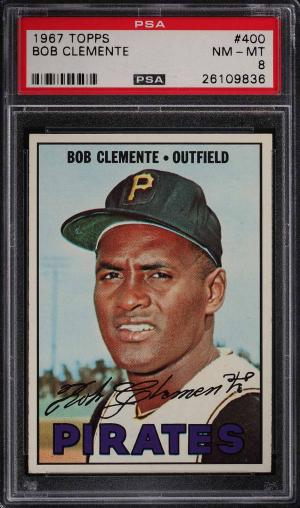 Image of: 1967 Topps Roberto Clemente #400 PSA 8 NM-MT (PWCC)