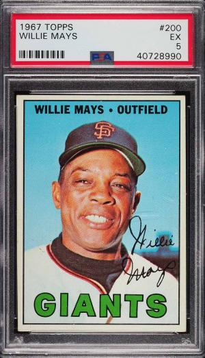 Image of: 1967 Topps Willie Mays #200 PSA 5 EX (PWCC)