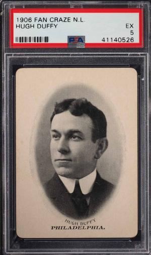 Image of: 1906 Fan Craze N.L. Hugh Duffy PSA 5 EX (PWCC)