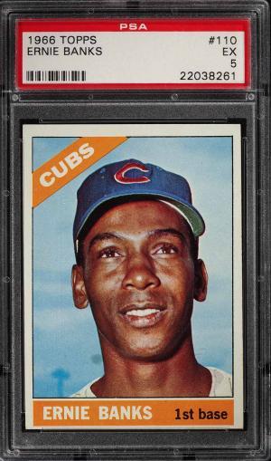 Image of: 1966 Topps Ernie Banks #110 PSA 5 EX (PWCC)