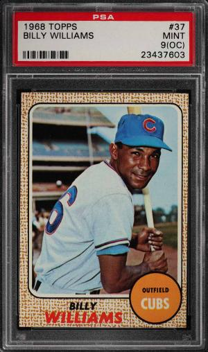 Image of: 1968 Topps Billy Williams #37 PSA 9(oc) MINT (PWCC)