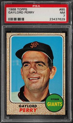 Image of: 1968 Topps Gaylord Perry #85 PSA 7 NRMT (PWCC)