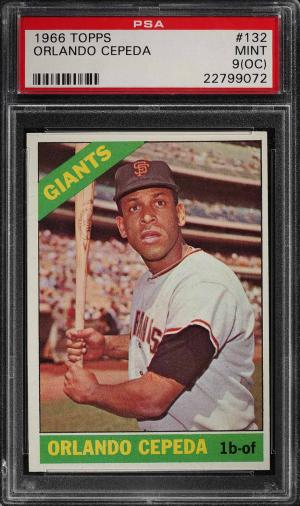 Image of: 1966 Topps Orlando Cepeda #132 PSA 9(oc) MINT (PWCC)