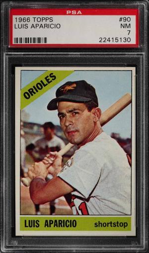 Image of: 1966 Topps Luis Aparicio #90 PSA 7 NRMT (PWCC)