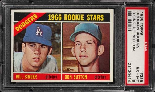 Image of: 1966 Topps Don Sutton ROOKIE RC #288 PSA 6 EXMT (PWCC)